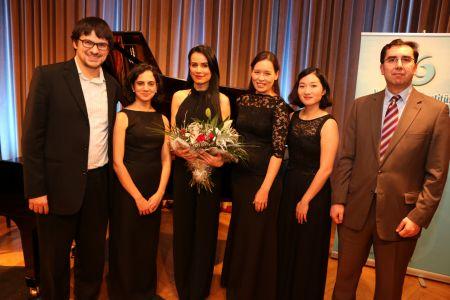 Köln Belgian Haus Konseri ardından, Köln Yunus Emre Enstitüsü Müdürü Dr. Yılmaz Bulut ve Mannheim Akademie Kuartett ile
