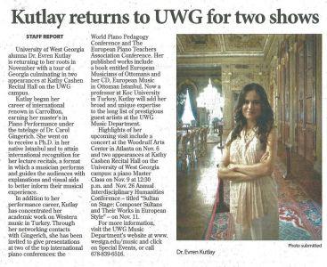 Times Georgian Gazetesi Kasım 2011